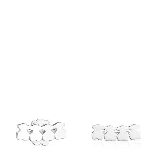 Boucles d'oreilles Straight oursons en Argent