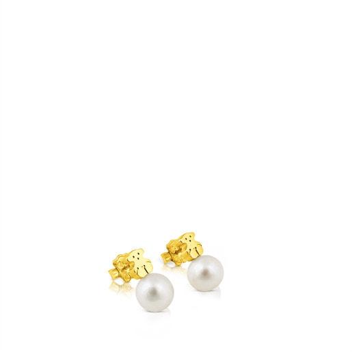 Pendientes TOUS Sweet Dolls de Oro y perlas motivo Oso