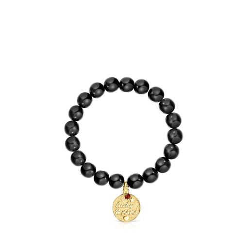 Bracelet TOUS Good Vibes Mama en Argent Vermeil et Shungites