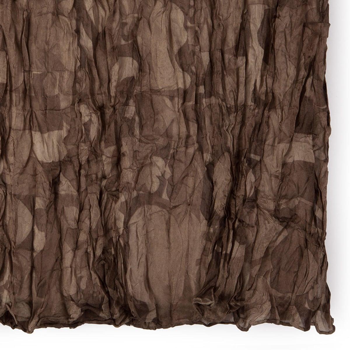 Foulard Cubik Plis en color xocolat