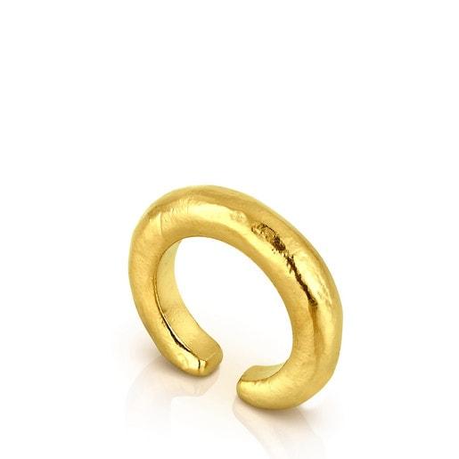 Ring Duna Tube aus Vermeil-Silber