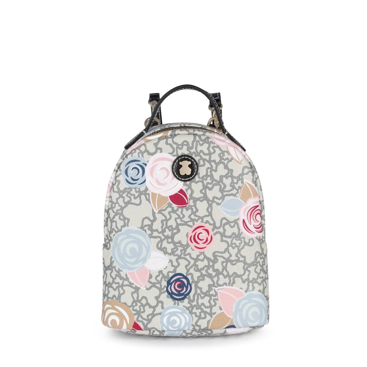 3221e70e8efe Mini multi-black Kaos Mini Roses Backpack - Tous Site US