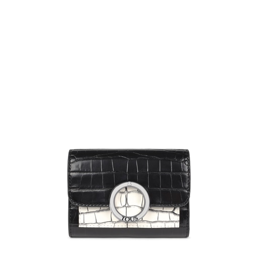 Small black and white Audree Wild Wallet