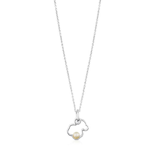 Silver Silueta Necklace with Pearl