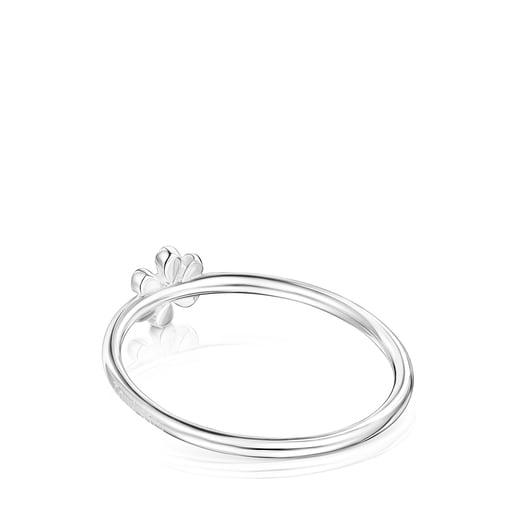 Anillo flor de plata Fragile Nature