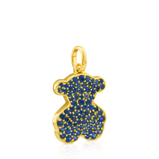 Gold Icon Gems Pendant with Sapphire