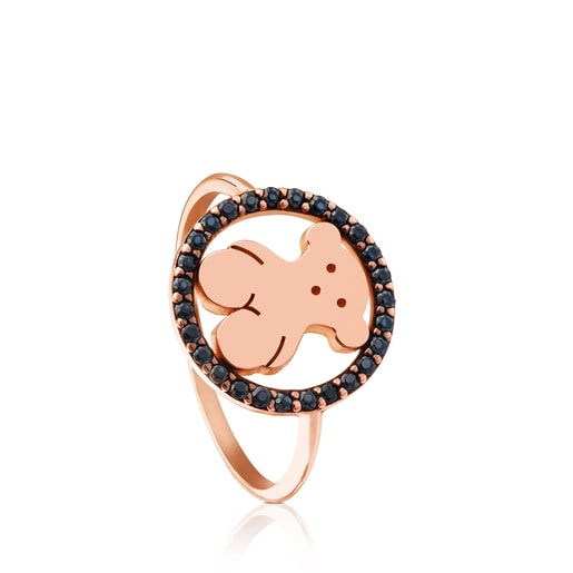 Rose Vermeil Silver Camille Ring with Spinels
