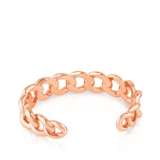 Rose Vermeil Silver Eslabones Bracelet