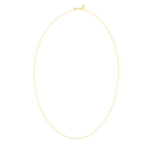 80cm lange Halskette TOUS Chain aus Vermeil-Silber.
