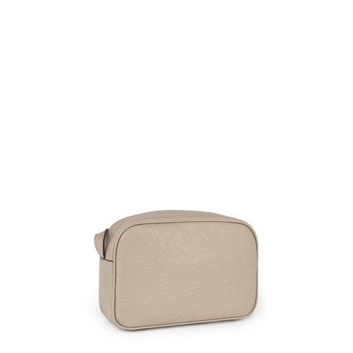 Small beige leather Sira crossbody bag