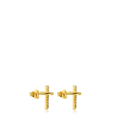 Ohrringe TOUS Cruz aus Gold