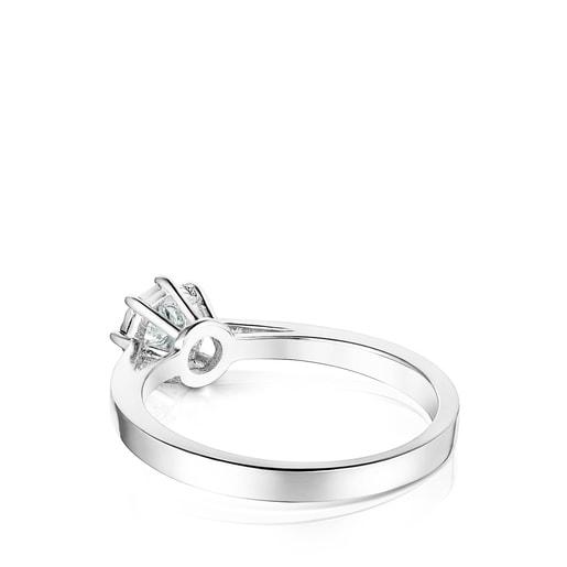 Δαχτυλίδι Les Classiques από Λευκόχρυσο με μεσαίου μεγέθους ροζέτα με Διαμάντι