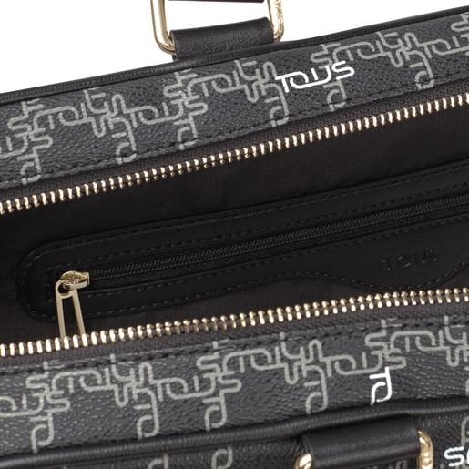 Black TOUS Logogram Briefcase