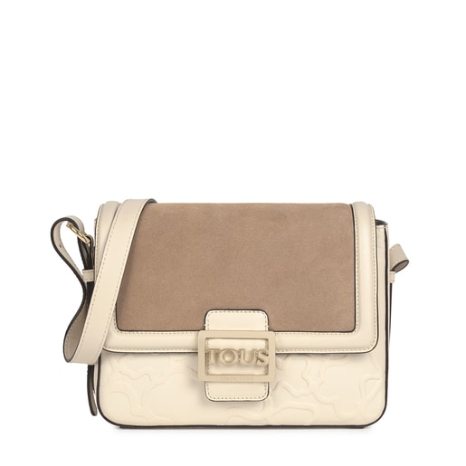Medium beige Leather TOUS Icon Crossbody bag