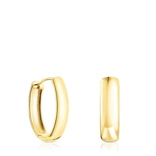 Oval Silver Vermeil TOUS Basics Earrings