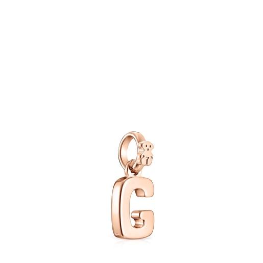 Μενταγιόν Alphabet από Ροζ Χρυσό Vermeil με το γράμμα G