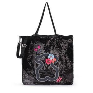 93f116682f Τσάντα για Ψώνια Jodie Special Patch σε μαύρο χρώμα