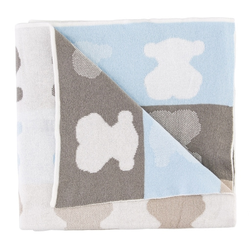 Nile reversible blanket in sky blue
