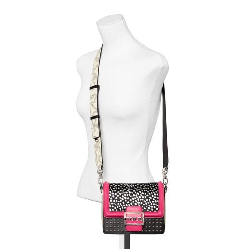 Small fuchsia colored Kaos Icon Wild Multi Shoulder Bag