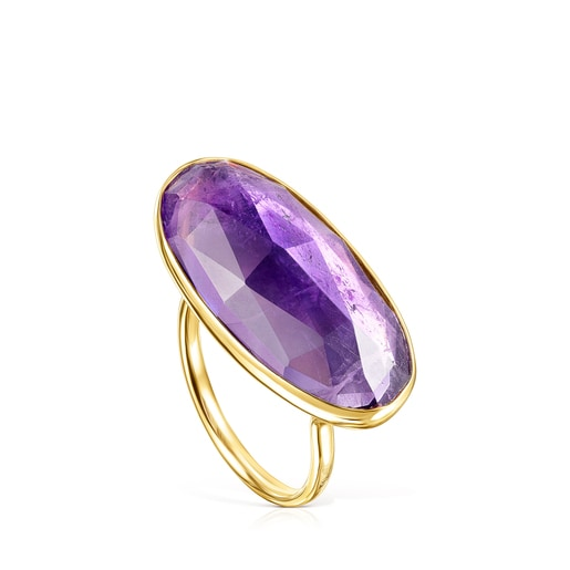 Gold Luz Ring with Amethyst
