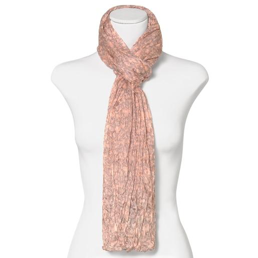 Pañuelo Kaos Mini Silhouette Plis rosa de seda