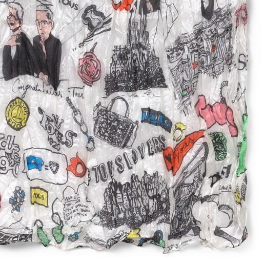 Pañuelo Tous Centenary plisado multicolor