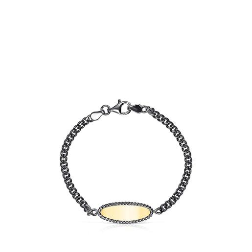 Armband Minne aus Dark Silver, Vermeil-Silber