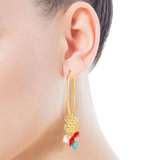 Σκουλαρίκια Bliss από ασήμι vermeil