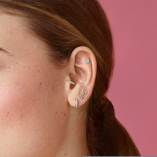 Aretes Riviere de Oro rosa con Diamantes