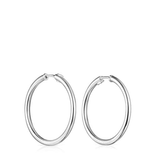 TOUS Basics Large Earrings in Silver