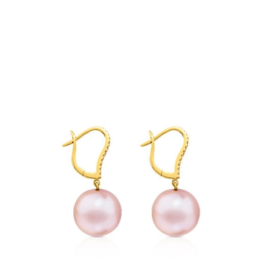 ATELIER Novias Earrings in Gold with Pearls and Diamonds