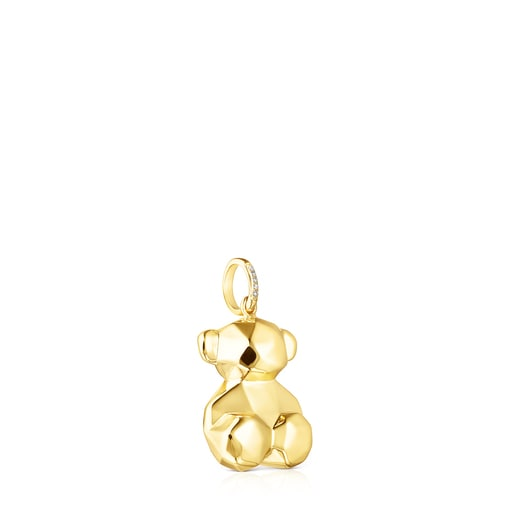 Small Gold Sketx Pendant with Diamonds