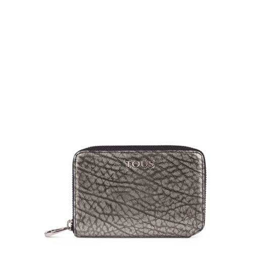 Small leather silver Bridgy wallet