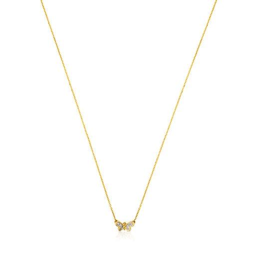 Halskette TOUS Bera aus Gold mit Diamanten.
