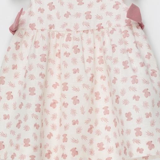 Vestido S/M de corte evasé Pink Coral