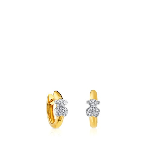 Gold Gen Earrings Bear motif