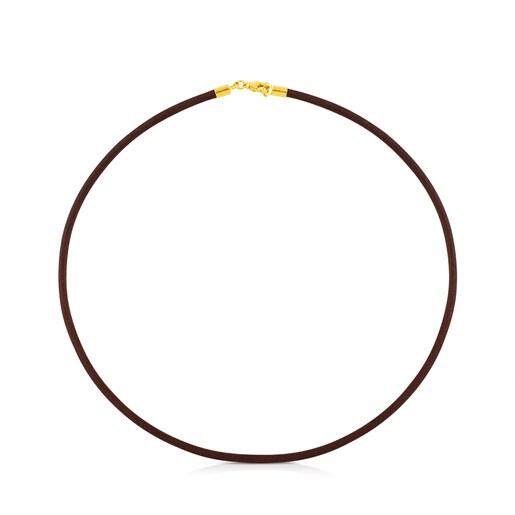 Gargantilla TOUS Chokers de Cuero en color marrón