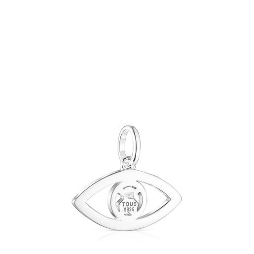 Silver TOUS Good Vibes eye Pendant