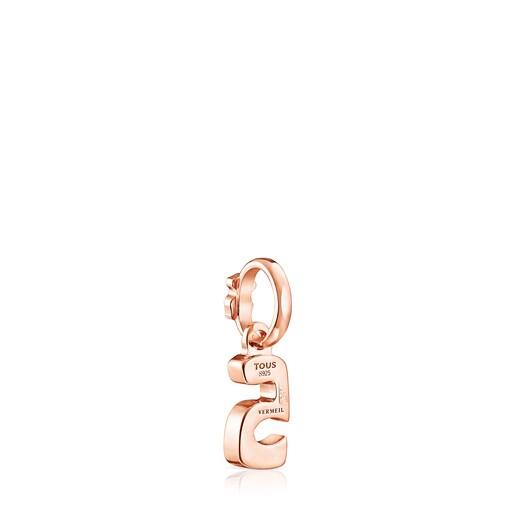 Μενταγιόν Numbers νούμερο 5 από Ροζ Ασήμι Vermeil