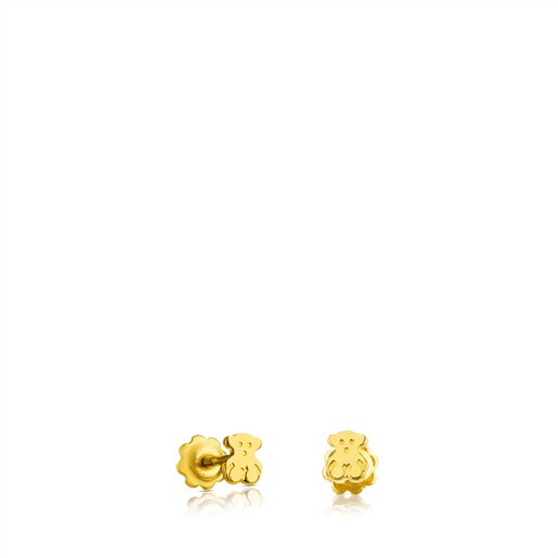 Gold TOUS Baby earrings Bear motif