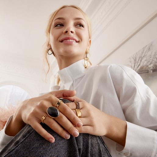 Silver Vermeil Job Ring