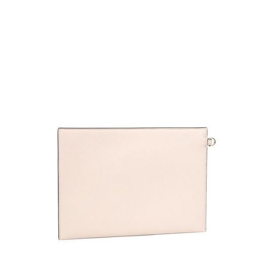 Beige and brown TOUS Essential Clutch bag