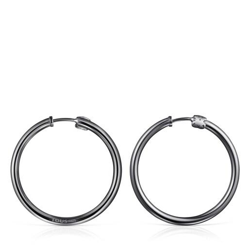 Große Ohrringe TOUS Basics aus Dark Silver