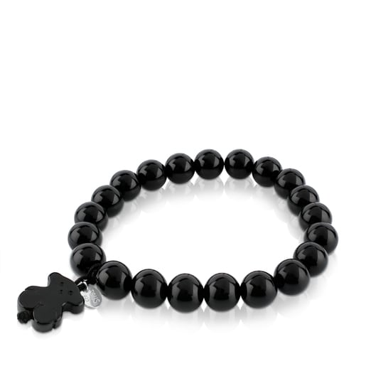 Silver TOUS Color Bracelet with Onyx