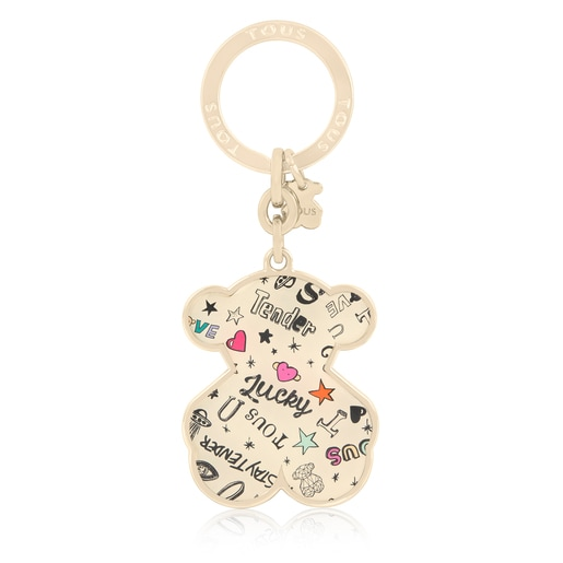Multicolored Oso Samba Key ring