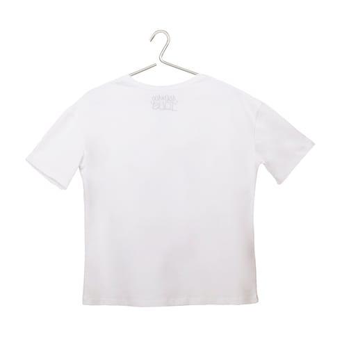 Camiseta branca Tous Paula Martín