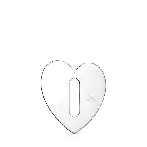 Colgante grande Hold Metal corazón de Plata