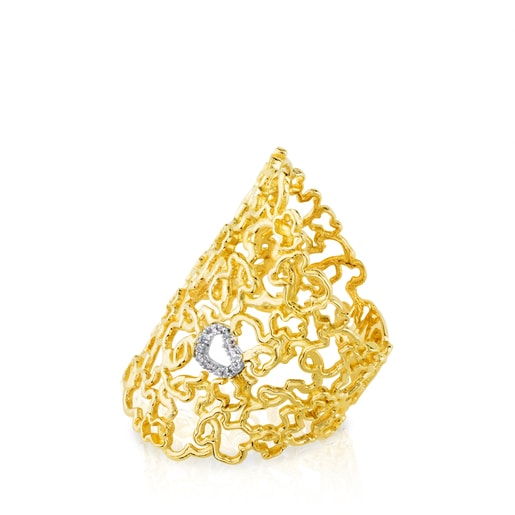 White and Yellow Gold Milosos Ring with Diamond