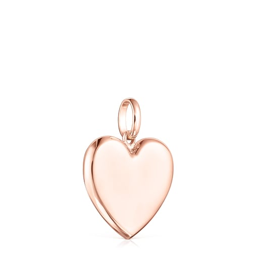 Rose Silver Vermeil Sweet Dolls heart Pendant