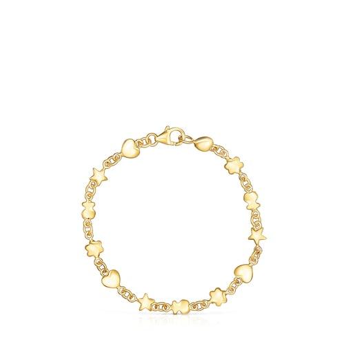 Bracelet Mini Icons en Argent Vermeil